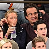 Mary-Kate Olsen and Olivier Sarkozy got into the game.