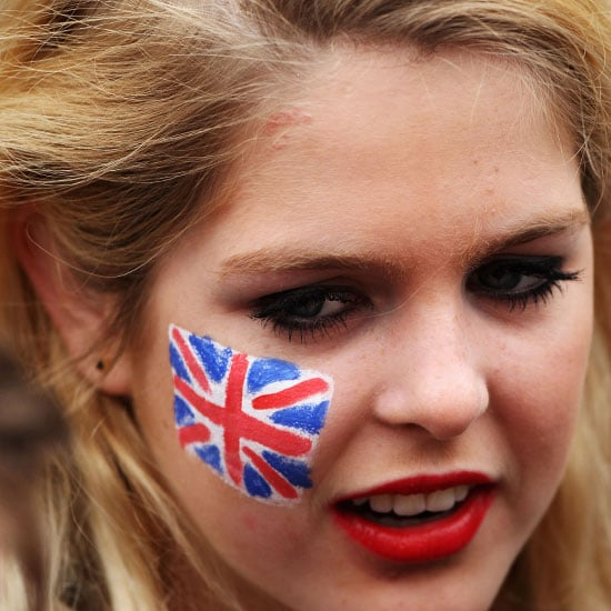 Royal Wedding Fans Face Paint Pictures Popsugar Beauty