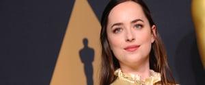 "Dakota Johnson Jokes at the Oscars: ""I'm Actually Not Wearing Any Makeup"""
