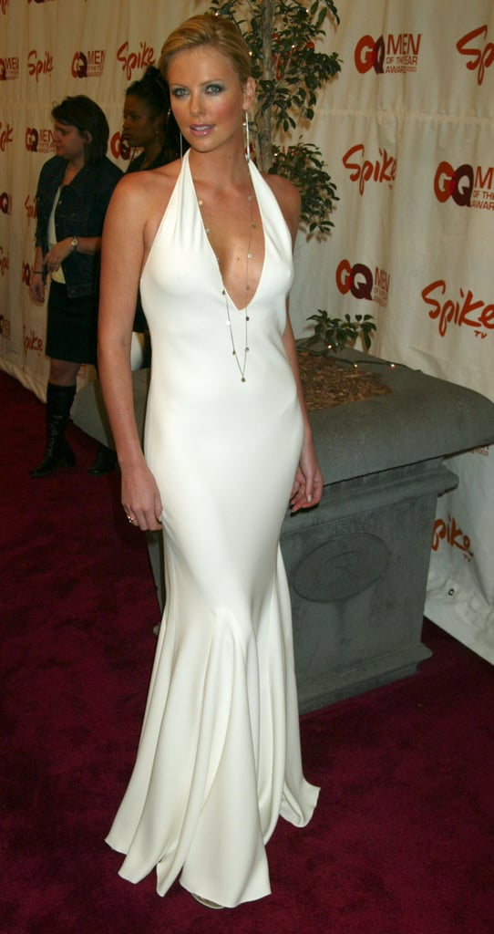 Charlize looked white hot in a cleavage-baring Ralph Lauren gown at the GQ Men of the Year Awards in October 2003.