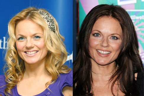 Geri Halliwell as a Brunette with Brown Hair