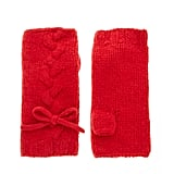 For the girlie fashionista, these red, bow-tie infused cable wool gloves are a cold weather must-have accessory. Lowie Cable Wool Fingerless Gloves ($38)