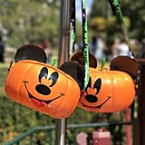 Or these adorable Mickey pumpkin popcorn buckets.
