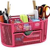 Mesh Desk Organiser Office Supply Caddy Drawer With Pen Holder