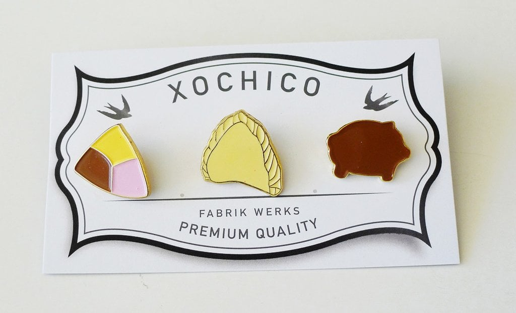 A set of enamel pins that can spice up any garment. Pan Dulce Enamel Pins ($18)