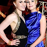 Anna Paquin and Dianna Agron get close at the HBO party.