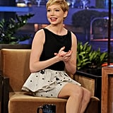 Michelle Williams took the stage on The Tonight Show With Jay Leno.