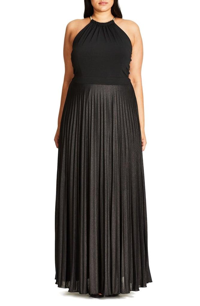 ثوب City Chic الطويل لذوات المقاس الكبير (149$ دولار أمريكي؛ 548 درهم إماراتي/ريال سعودي)