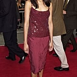 A very young Zoe in maroon sequins at the Center Stage premiere in '00.