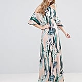 Every Cloud Cactus Print Halterneck Maxi With Ruffle