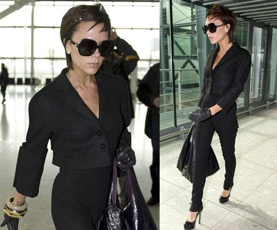 Photos of Victoria Beckham at Heathrow 2009-02-11 12:00:33