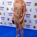 Goldie Hawn presented an award at the ceremony in this glitzy metallic number.