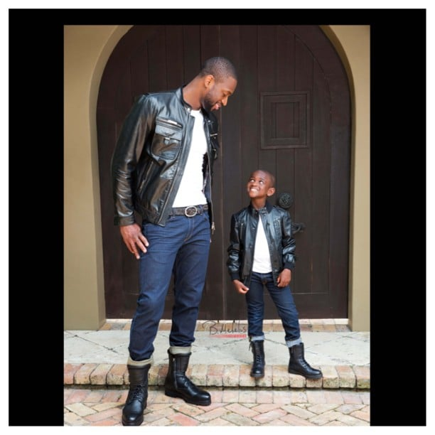 Dwyane Wade shared this sweet photo with his look-alike son. Source: Instagram user dwyanewade