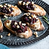 Cheese Crostini With Cranberry Fig Jam