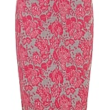 Dorothy Perkins Pink Lace-Print Pencil Skirt