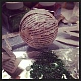 Holiday Balls Made From Pages of Jurassic Park