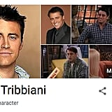 Joey Tribbiani Friends Google Easter Egg