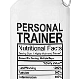 Personal Trainer Ingredients Water Bottle