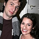 How sweet is this backstage photo of Lea Michele and Zach Braff? The actor visited Lea after her February 2007 performance of Spring Awakening on Broadway.