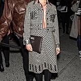 At the Bottega Veneta show during New York Fashion Week in February 2018.