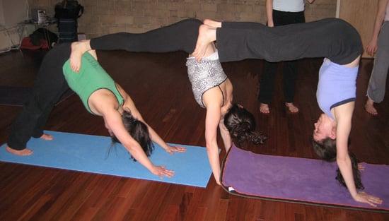 Partner Yoga Pose Triple Down Dog