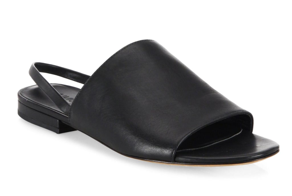 039625dc1f7 Vince Dawson Leather Flat Slingback Slides