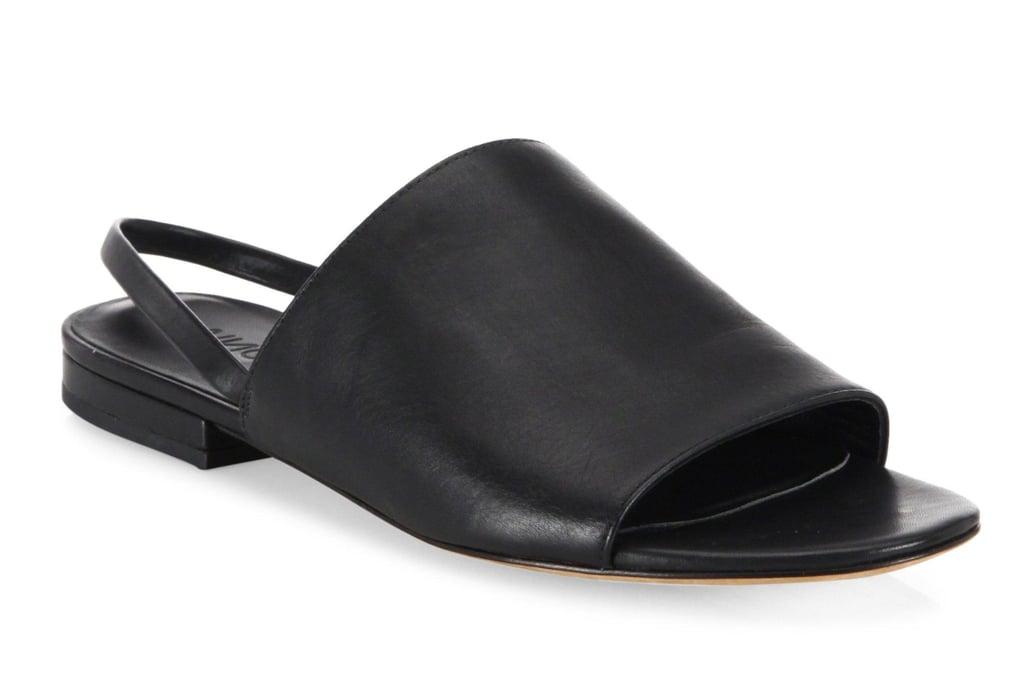 Vince Dawson Leather Flat Slingback Slides