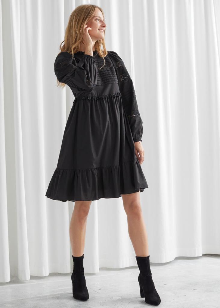 Tiered Mini Lace Dress