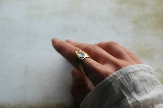 Nausicaä of the Valley of the Wind Inspired Brass Ring