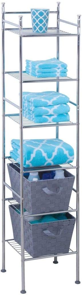 Honey-Can-Do 6 Tier Metal Tower Bathroom Shelf