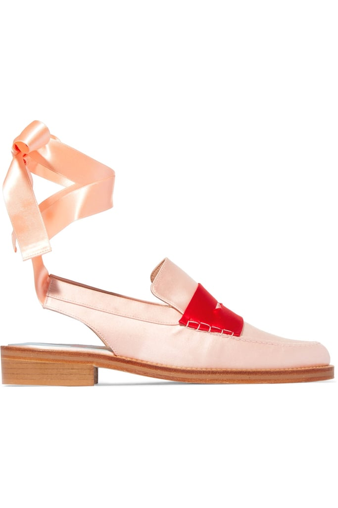 Is it a loafer? A ballet flat? Both? We love Man Repeller's take on the trendy lace-up style ($395) because this shoe has both feminine and tomboy details.