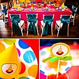 Elmo Party Table Setup