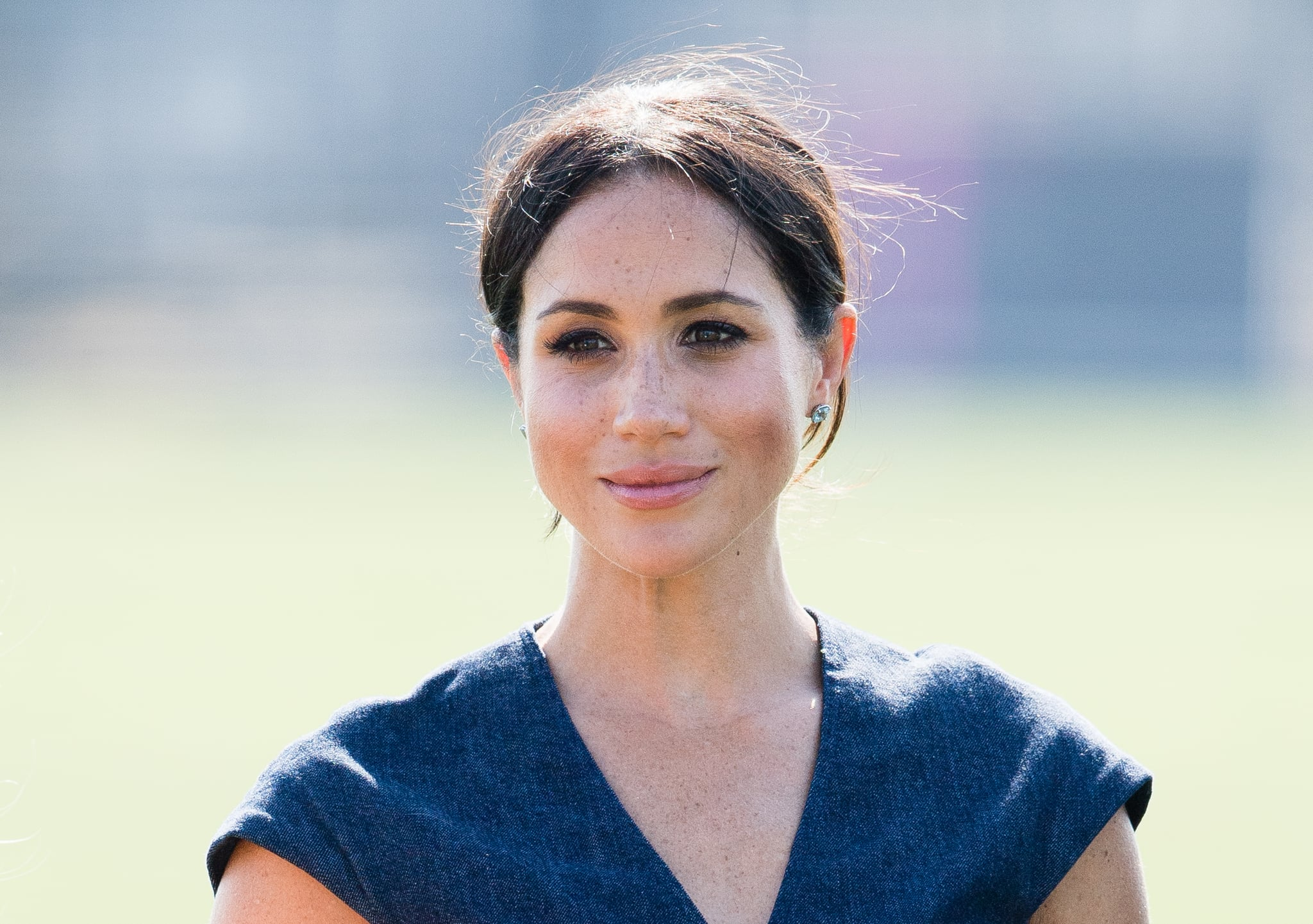 WINDSOR, ENGLAND - JULY 26:  Meghan, Duchess of Sussex attends the Sentebale Polo 2018 held at the Royal County of Berkshire Polo Club on July 26, 2018 in Windsor, England.  (Photo by Samir Hussein/Samir Hussein/WireImage)