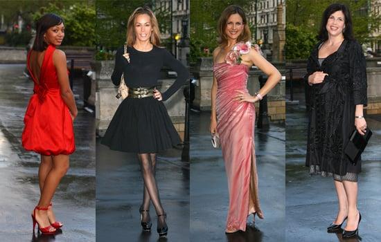 Zaraah Abrahams, Tara Palmer-Tomkinson, Katie Derham and Kirstie Allsopp at Breast Cancer Haven's Blush Ball