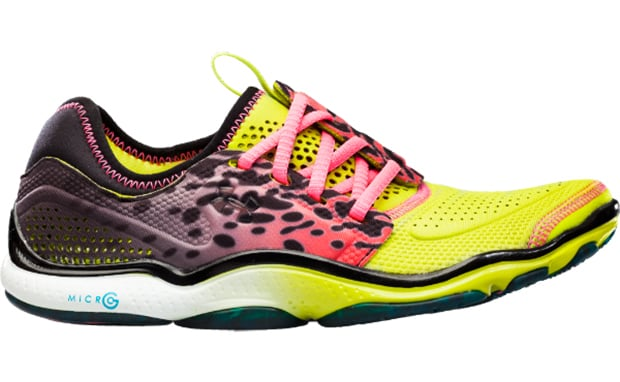"""The designers at Under Armour broke the mold when they designed these colorful """"Toxic"""" running shoes ($100).  Beyond this fun print, the offset lace reduces pressure from the top of your foot, while the foam offers the right balance of support and flexibility for this minimalist design."""
