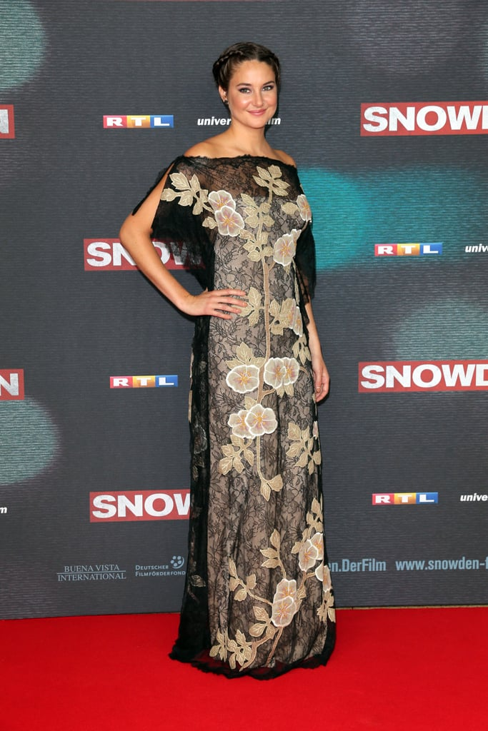 Shailene at the Snowden Premiere in Munich