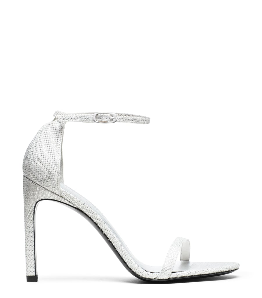 Nudist Sandal in Argento Silver ($398)