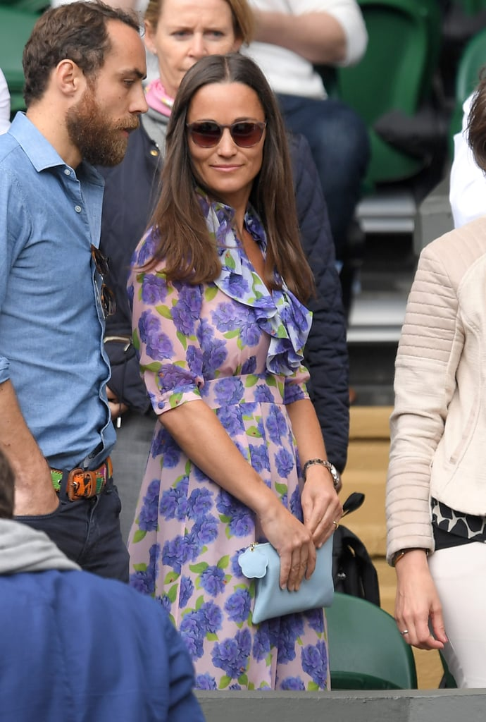 Pippa Middleton's Printed Dress at Wimbledon 2016