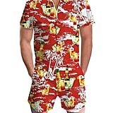 Idgreatim Men's Graphic One-Piece Romper