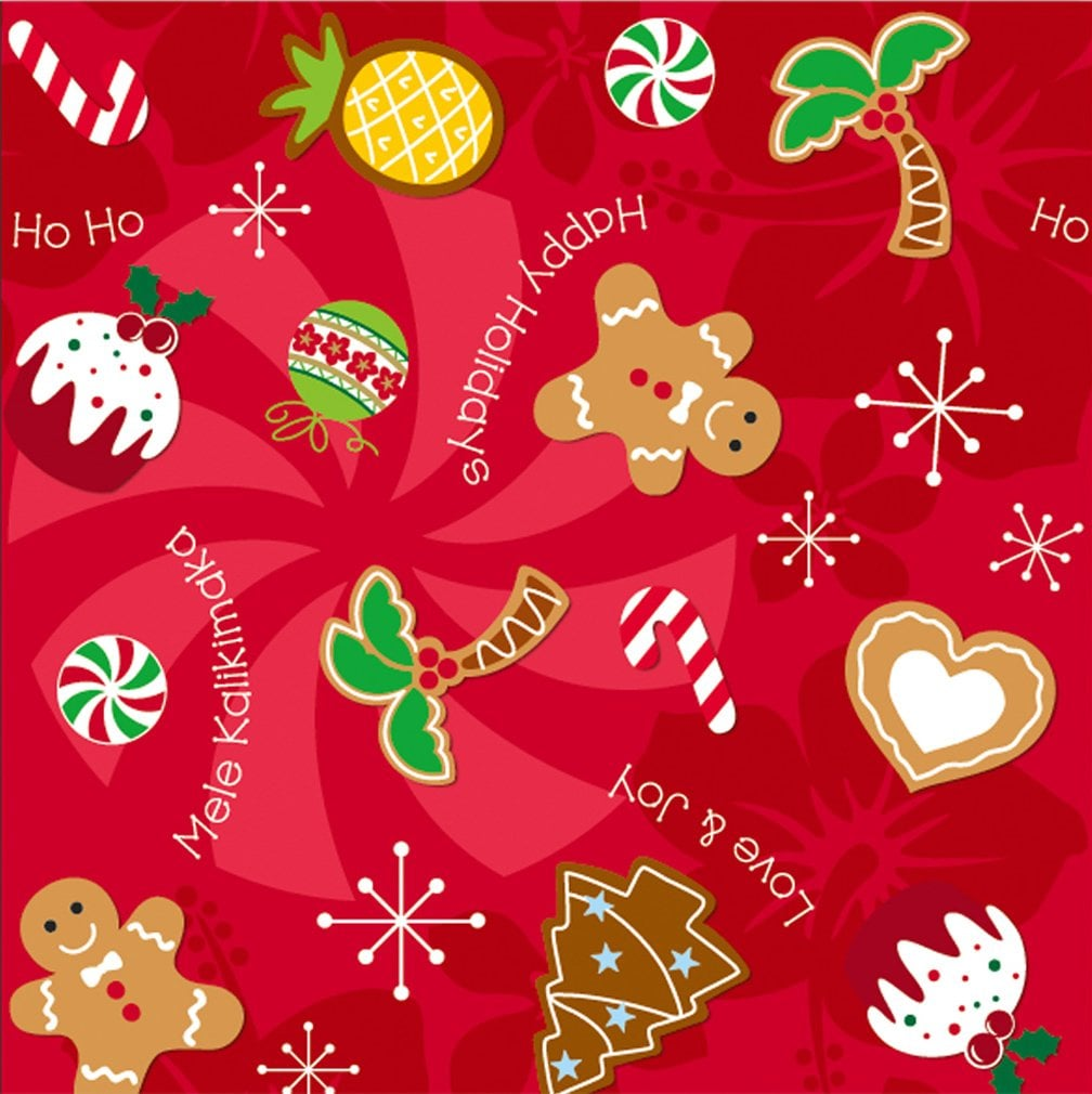 Hawaiian Christmas Cookies Gift Wrap | Best Wrapping Paper From ...