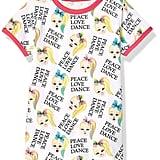 JoJo Siwa Girls' Big Peace Love Dance All-Over Print Ringer Tee