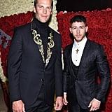Pictured: Tom Brady and Nick Jonas