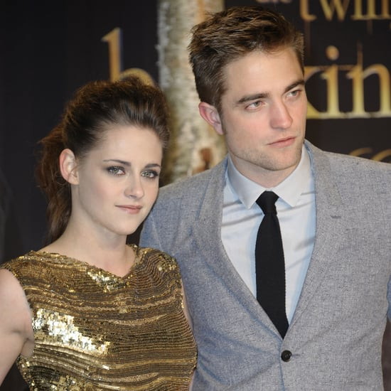 Kristen Stewart In Gold Elie Saab; Rob Pattinson in Berlin