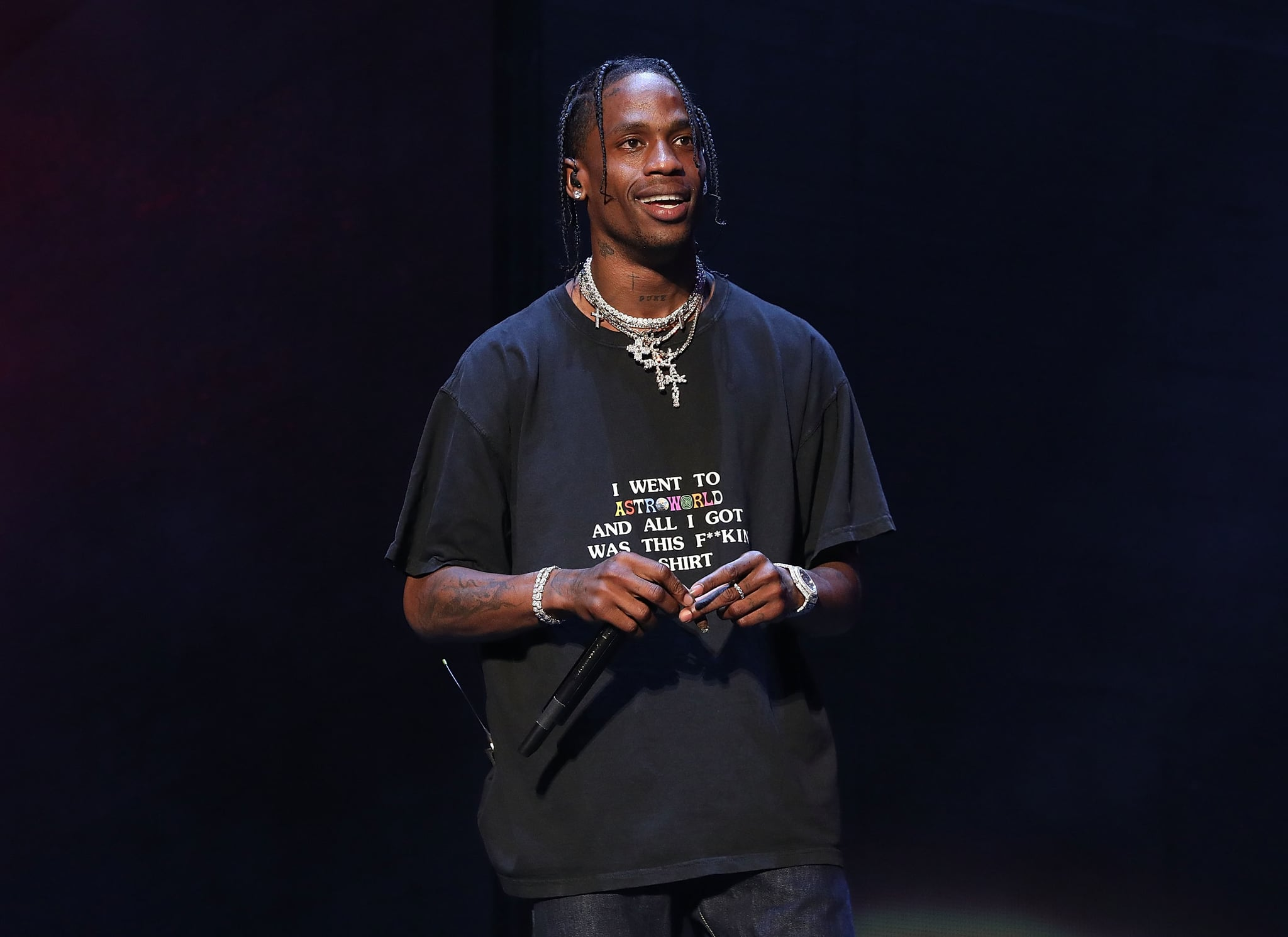 NEW YORK, NY - JUNE 02:  Travis Scott performs onstage during Day 2 of 2018 Governors Ball Music Festival at Randall's Island on June 2, 2018 in New York City.  (Photo by Taylor Hill/Getty Images for Governors Ball)