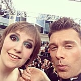 Lena Dunham and Ryan Seacrest snapped a selfie together. Source: Instagram user ryanseacrest
