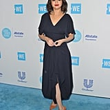 Selena's Suede Marble-Effect Pumps