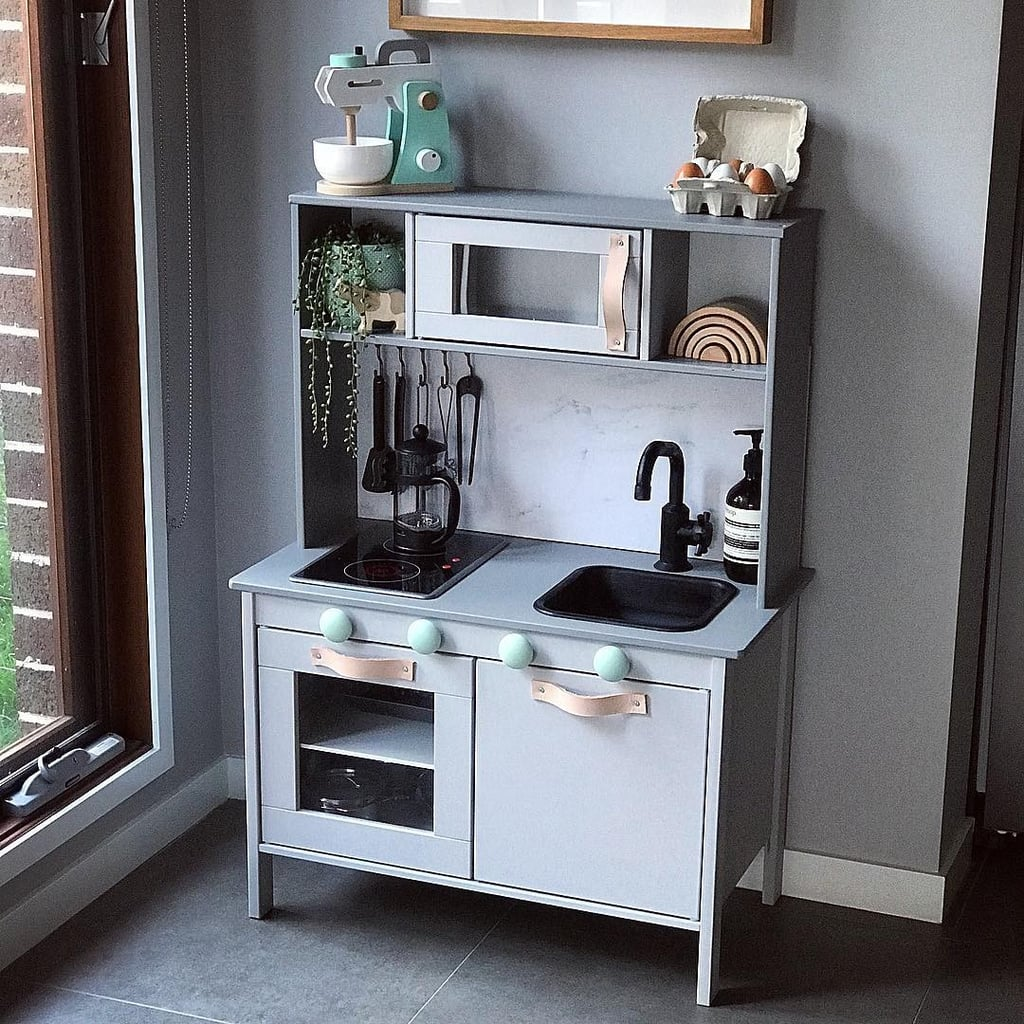 Ikea play kitchen hack popsugar australia parenting for Ikea child kitchen set