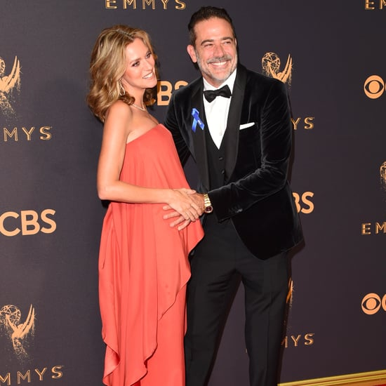 Jeffrey Dean Morgan and Hilarie Burton at the Emmys 2017