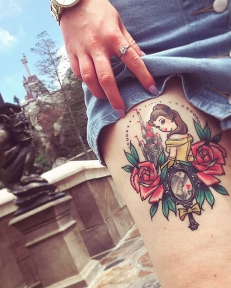Tattoos Beauty and the Beast-Inspired