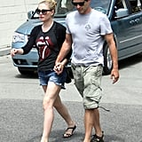 Anna Paquin and Stephen Moyer walked along Venice's boardwalk.